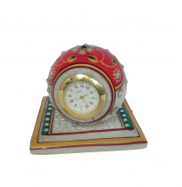 Colorful Stone Studded Marble Table Watch