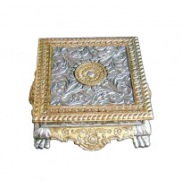 Silver And White Metal Decorative Bajot
