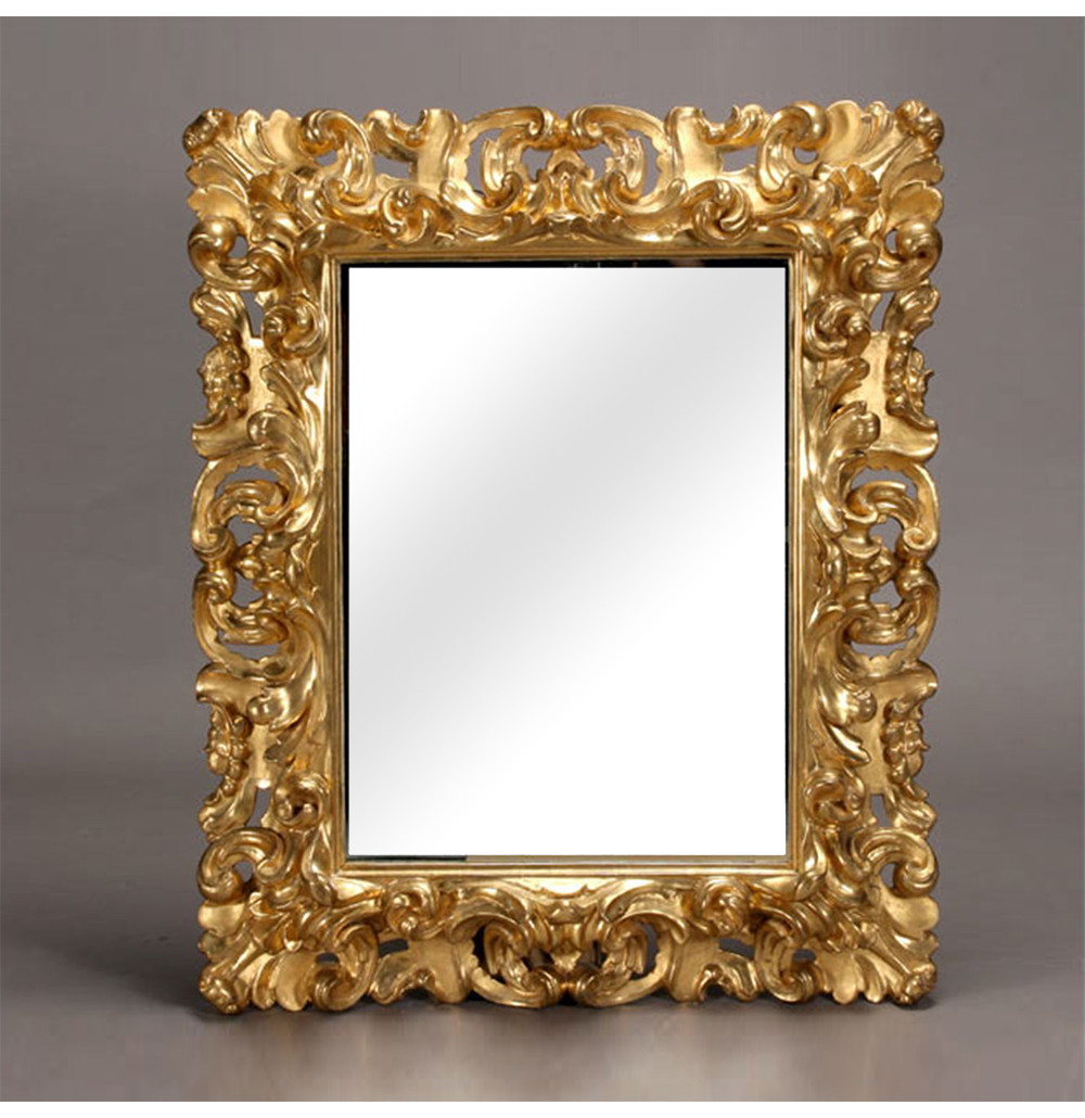 Italian Baroque Style Gilt And Gessoed Mirror Frame