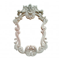 Carving Antique Silver Photo Frame