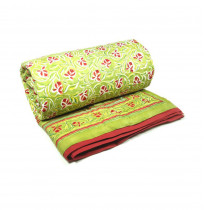 Red Orchid Twin Quilt in Cotton Voile