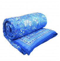 Twin Quilt Anarkali Blue Hand block printed by the amazing artisans of ROOPANTARAN
