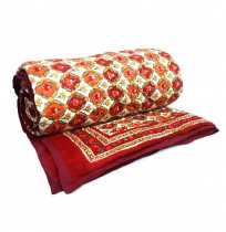 DHOLAMARU CHOKRI finely Block Printed Queen Size Quilt