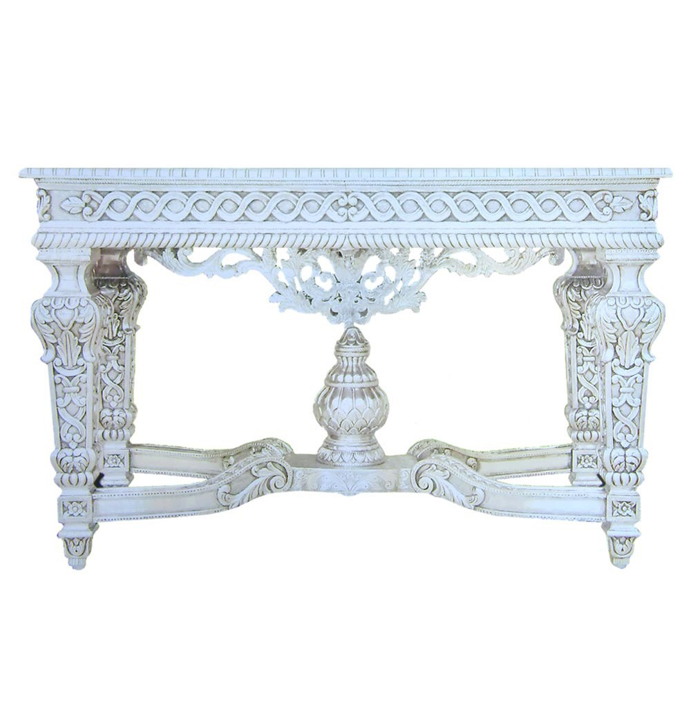 Silver Antique Big Console Table - Arts Unlimited India Udaipur Rajasthan India |Silver Antique