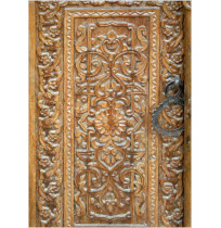 Carved Wooden Doors On Old Mosque