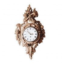 Exceptional 18th Century Giltwood Wall Clock