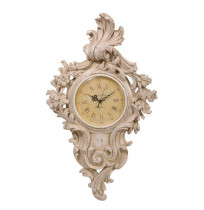 Shabby Chic Ornate Cream Carved Wall Clock