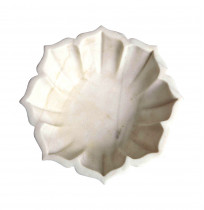 Carved White Marble Bowl