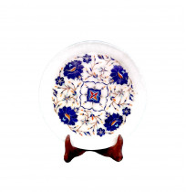 Marble Inlay Plate With Stand