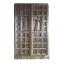 Antique Indian Style Wooden Door