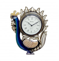 Peacock Wooden Carving Wall Clock