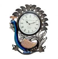Peacock Wooden Carving Clock