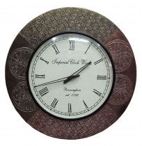Natural Wood Look Round Wall Clock