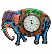 Multicolour Analog Handcarved Clock