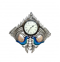 Double Peacock Wall Clock